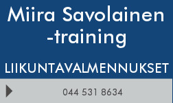 Miira Savolainen -training